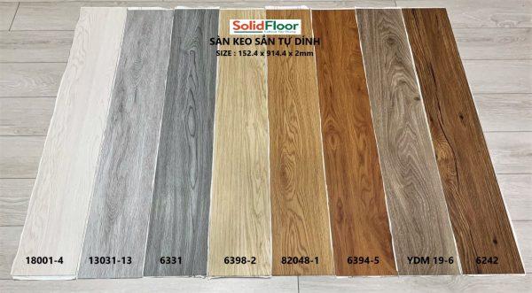 Sàn Nhựa Giả Gỗ Tự Dán Solid Floor 2mm