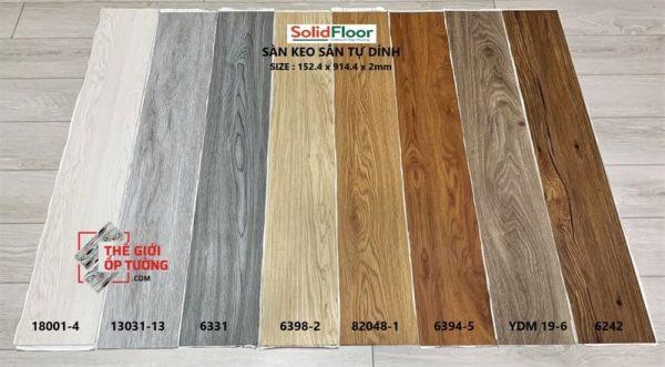Sản Phẩm Sàn Nhựa Tự Dán Solid Floor
