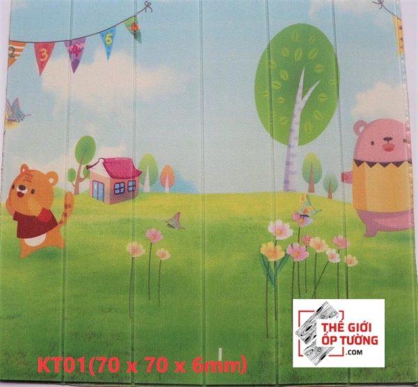 Tấm xốp dán tường phòng bé hoạt hình
