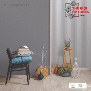 Giấy dán tường Hàn Quốc màu trơn 7915-4 | V-concept