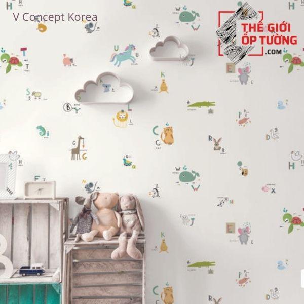 Giấy dán tường Hàn Quốc phòng bé 7923-1 | V-concept