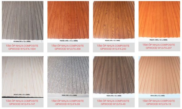 Tấm ốp tường gỗ composite
